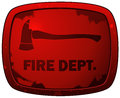 Fire dept red grunge plate sign vector illustration isolated on white background Stock Photography