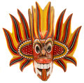 Fire devil mask Royalty Free Stock Photo