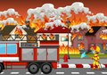 Fire disaster at village Royalty Free Stock Photo