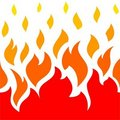 Fire element icon Royalty Free Stock Image