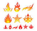 Fire Elements Royalty Free Stock Photos