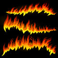Fire elements illustration of abstract Royalty Free Stock Photos
