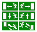 Fire emergency exit sign Stock Images