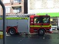 Fire engine arrives accident swanage dorset Royalty Free Stock Image