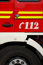 Fire engine emergency number Stock Photography