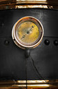 Fire engine gauge closeup of on antique Stock Photography