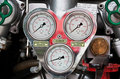 Fire engine gauges Stock Images