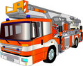 Fire engine lader Royalty Free Stock Photography