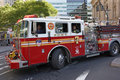 Fire Engine in New York Royalty Free Stock Photos