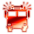 Fire engine with sirens Royalty Free Stock Photo