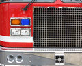 Fire engine view of front head。 Royalty Free Stock Image
