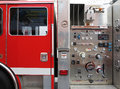 Fire engine view of valve Royalty Free Stock Photos