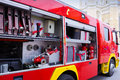 Fire engines truck and its complete equipment photography Royalty Free Stock Images