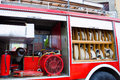 Fire engines truck and its complete equipment photography Stock Photos