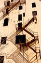 A fire escape Royalty Free Stock Photo