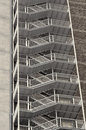 Fire escape detail of a tall buildings ladder Royalty Free Stock Photo