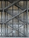 Fire escape external metal staricase Royalty Free Stock Image