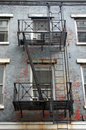 Fire escape New York Stock Image