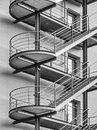 Fire escape at an office building Royalty Free Stock Photos