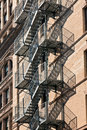 Fire escape at an old house downtow Royalty Free Stock Photography