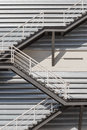 Fire escape outside of new factory Royalty Free Stock Photos