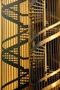 Vývrtka schodiště a stíny