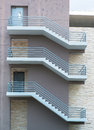 Fire escape stairs Royalty Free Stock Photo