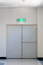 Fire exit door a in factory Royalty Free Stock Photo