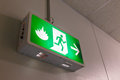 Fire exit light sign photo Royalty Free Stock Photography