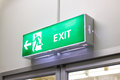 Fire exit light sign photo Royalty Free Stock Image