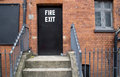 Fire exit in london a building Royalty Free Stock Photos