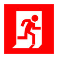 Fire exit red sign vector Royalty Free Stock Images