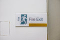 Fire exit sign in commercial building Royalty Free Stock Photos