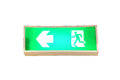 Fire exit signs isolate on white background Stock Photography