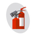 Fire extinguisher danger protection security help equipment pressure flammable vector illustration.