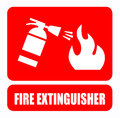Fire extinguisher this is file of eps format Stock Photos