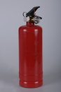 Fire extinguisher red extinguishers used to fight the burning smoke extinguish fires Royalty Free Stock Photography