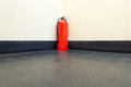 Fire extinguisher tools on the flooring, Fire proof system, Fire