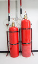 Fire extinguishing fm system Royalty Free Stock Images