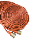 Fire fighter hose isolated on the white background Royalty Free Stock Photo