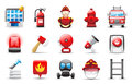 Fire fighter Icon Stock Photos