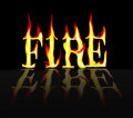 Fire on Fire Royalty Free Stock Image
