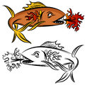 Fire Fish Drawing Royalty Free Stock Photography