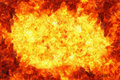 Fire and flame background frame Royalty Free Stock Photo