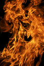Fire flame on black Stock Images