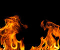 Fire Flame Border Background Royalty Free Stock Photo