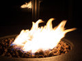 Fire flame in a coal fire pit. Royalty Free Stock Photo