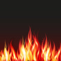 Fire flame frame border Royalty Free Stock Photo
