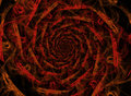 Fire flames abstract spiral on black background Royalty Free Stock Images