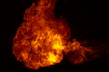 Fire flames background explosion Stock Images